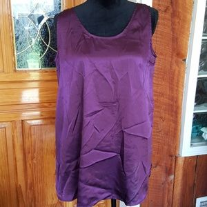 DIVIDENDS MAYERNITY purple satiny flowy tank